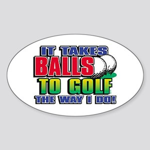 Golf Way I Do Oval Sticker